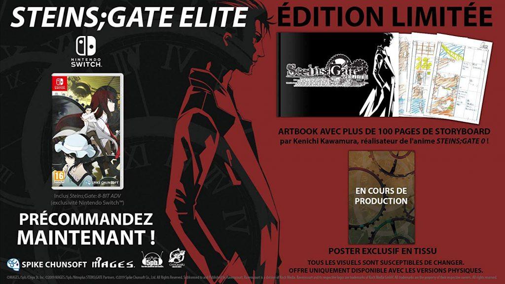 Steins Gate Elite Edition Limitee Switch