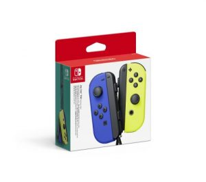 Paire De Manettes Nintendo Switch Joy Con Bleu Et Jaune Neon