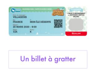 Animal Crossing Ticket Gratter