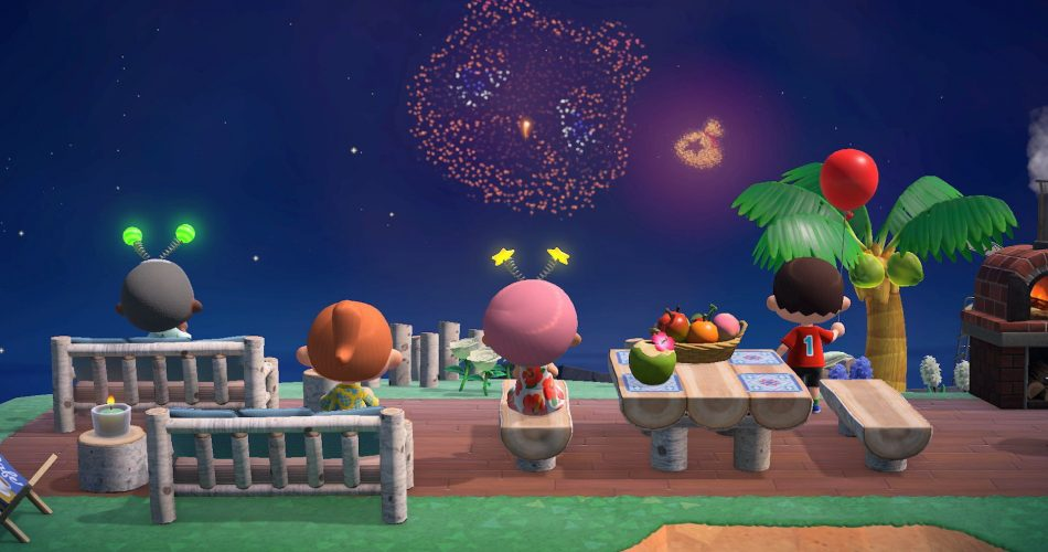 Animal Crossing New Horizons Feux Artifice