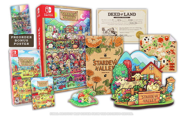 Stardew Valley Collector Switch Fangamer