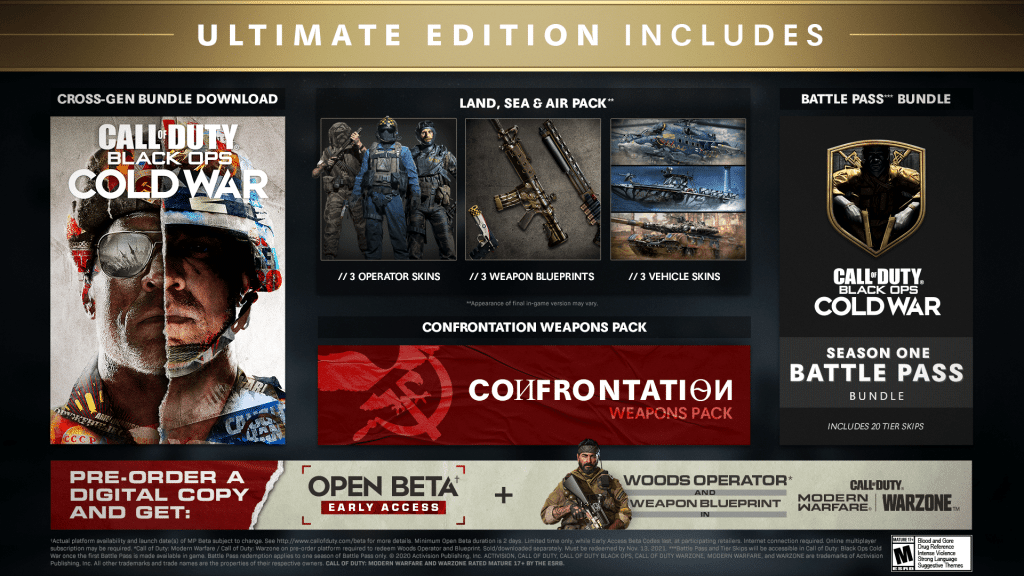 Call Of Duty Black Ops Cold War Ultimate Edition