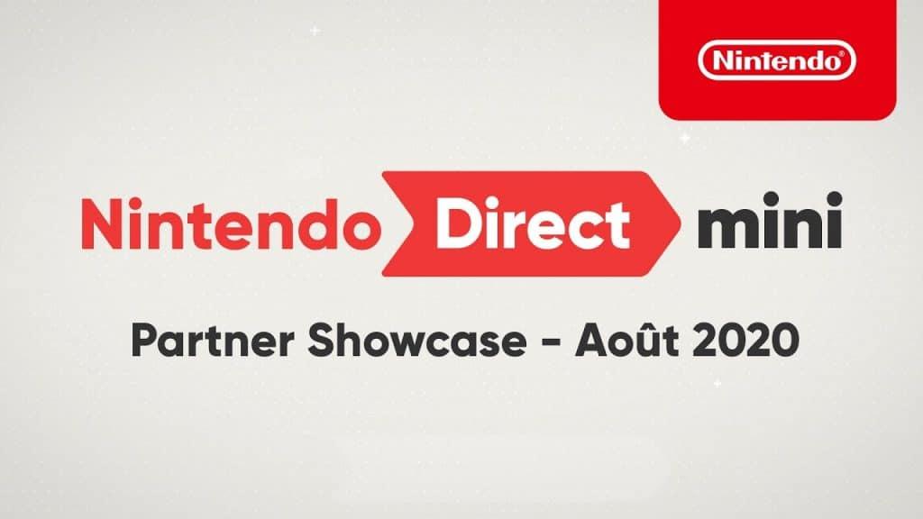 Nintendo Direct Mini Partner Showcase Aout 2020