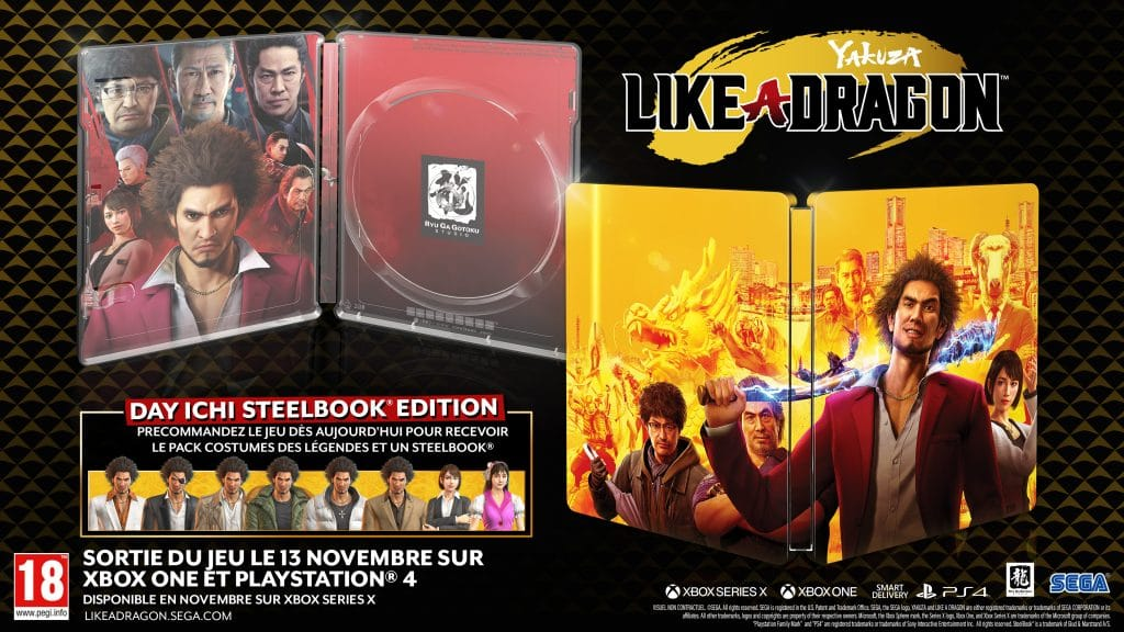 Yakuza Like A Dragon Day Ichi Edition Steelbook