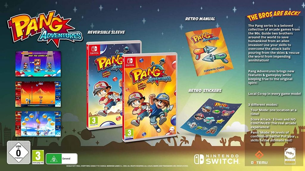 Pang Adventures Buster Edition Switch English