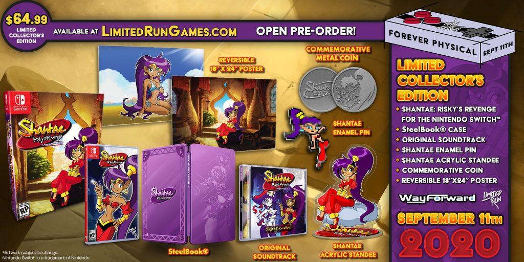 Shantae Risky Revenge Switch Lrg Collector
