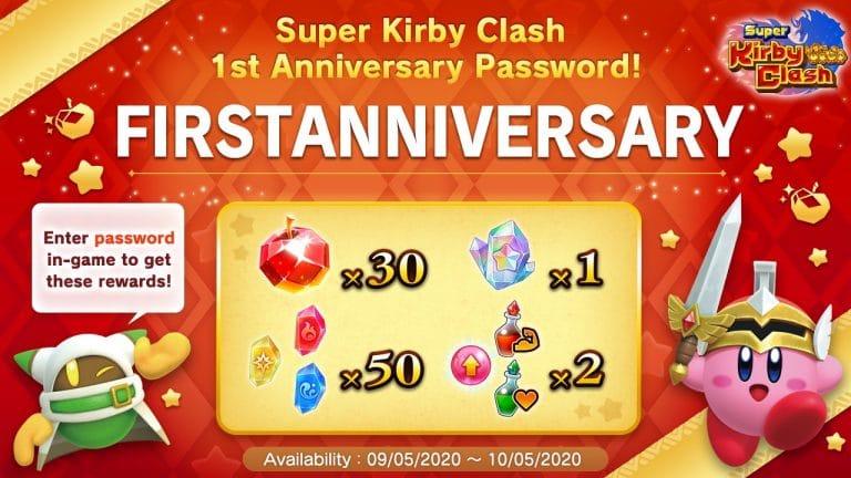 Super Kirby Clash First Anniversary English