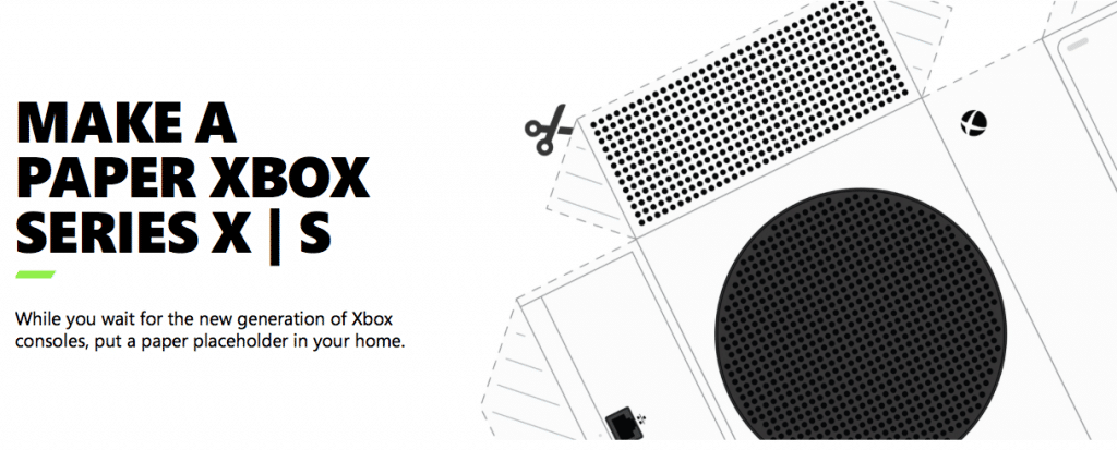 Xbox Series S X Papercraft