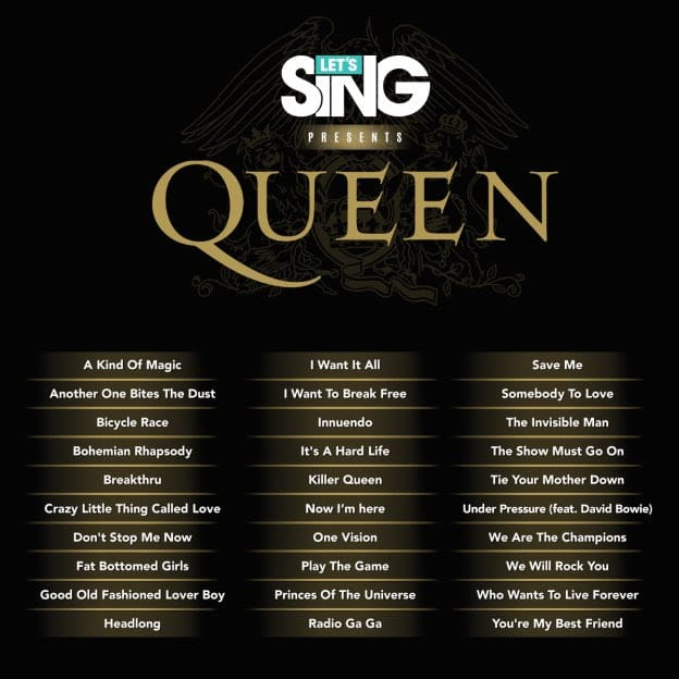 Lets Sing Queen Playlist