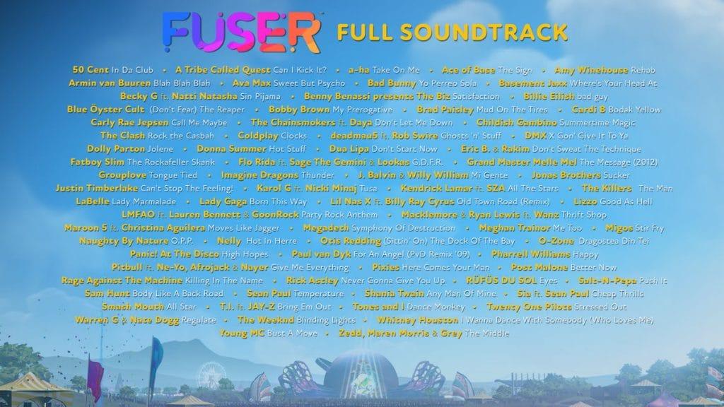 Fuser Tracklist