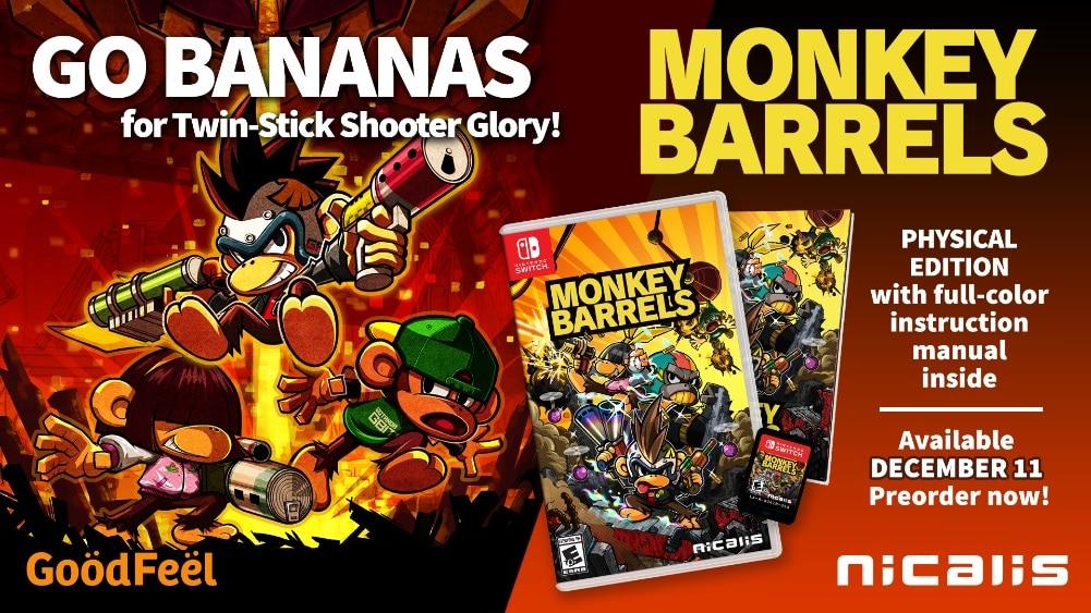 Monkey Barrels Nicalis Switch