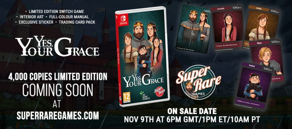 Yes Your Grace Super Rare Games
