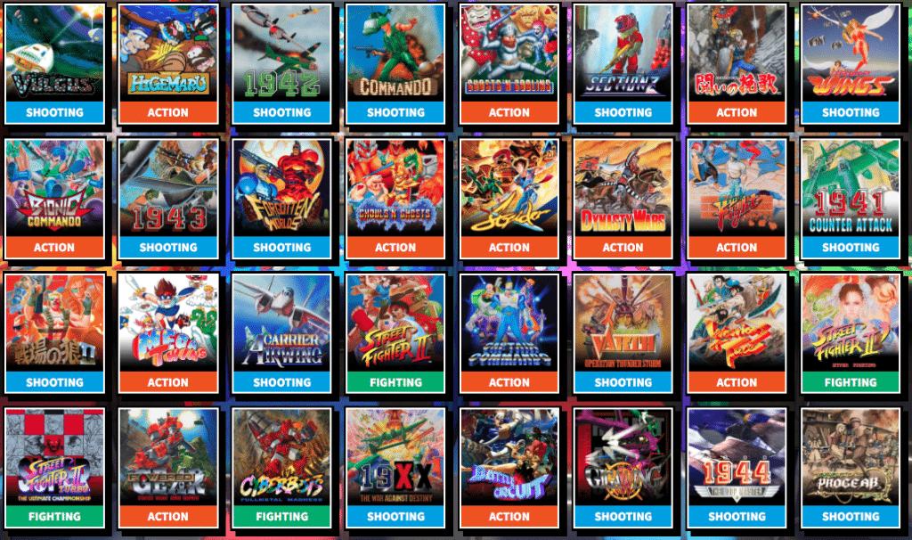 Capcom Arcade Stadium Games