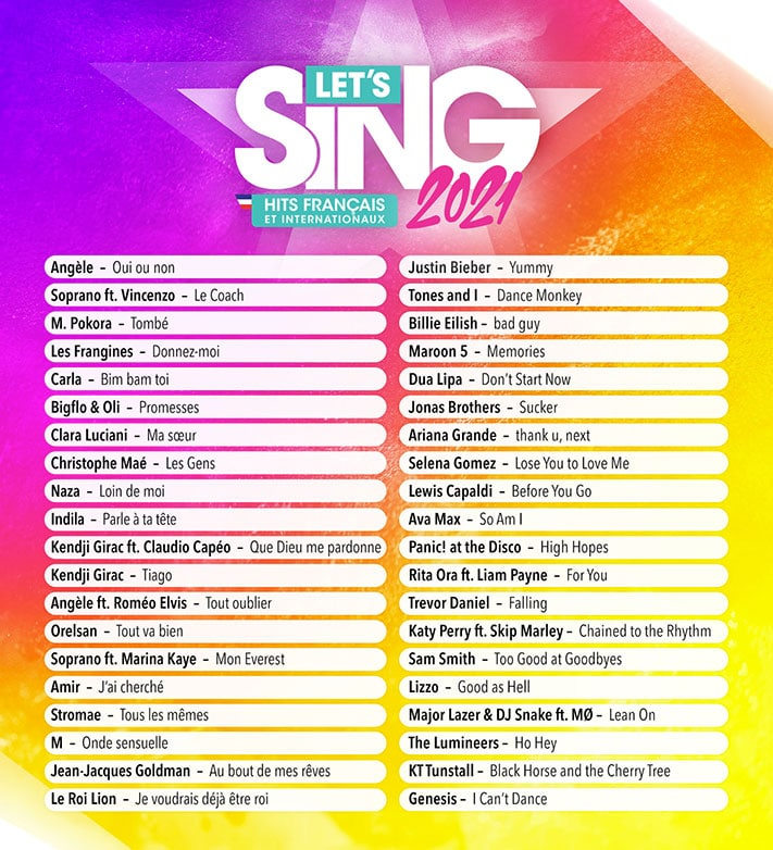Lets Sing 2021 Francais Internationaux Playlist