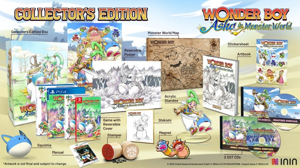 Wonder Boy Asha Edition Collector