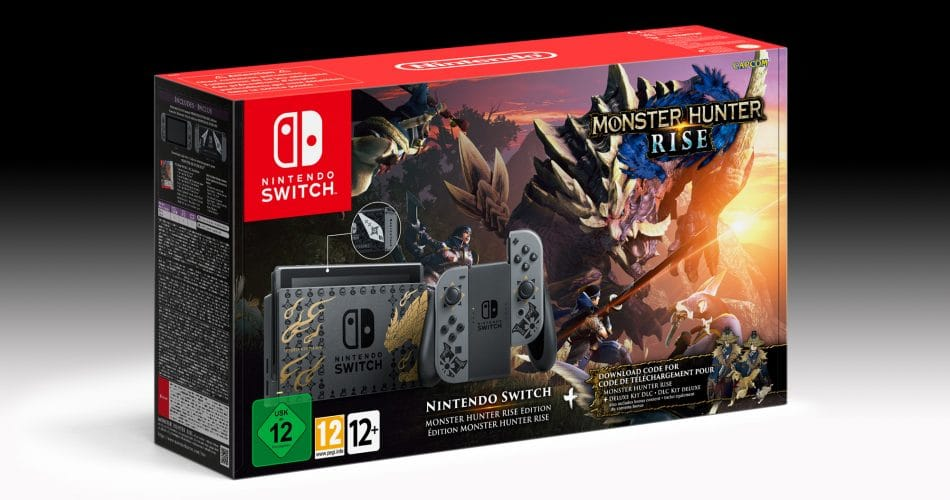 Console Nintendo Switch Monster Hunter Rise Pack