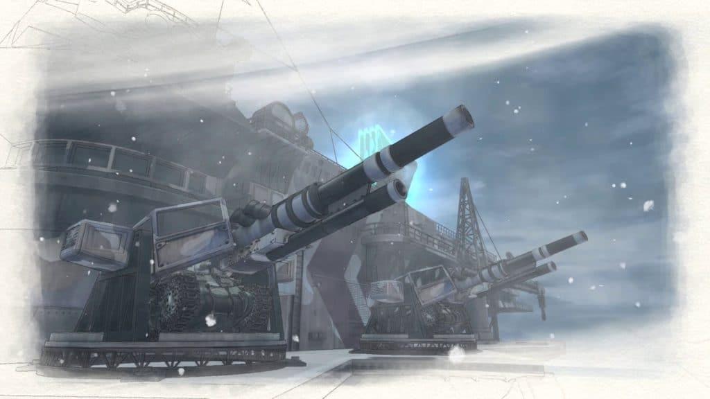 Valkyria Chronicles 4 Stadia Centurion Cannons