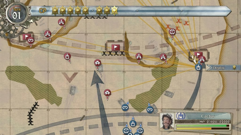 Valkyria Chronicles 4 Stadia Command Map