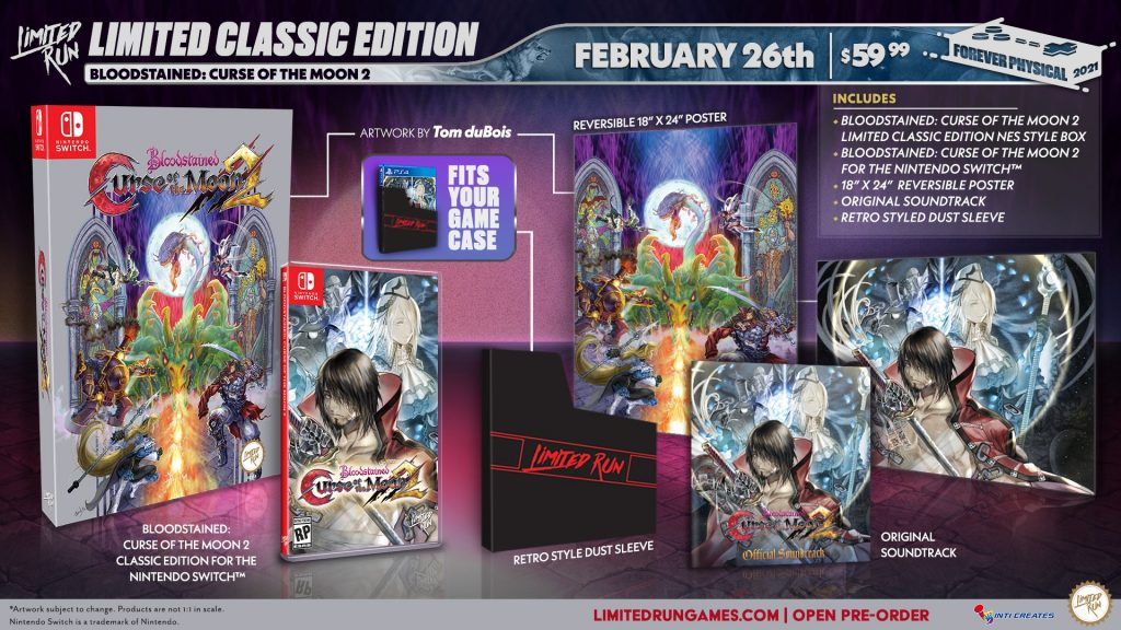 Bloodstained Curse Of The Moon 2 Lrg Classic Edition