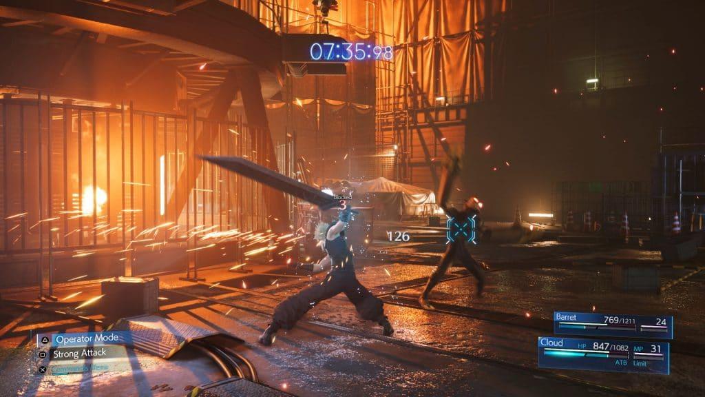 Final Fantasy 7 Remake Intergrade Battle