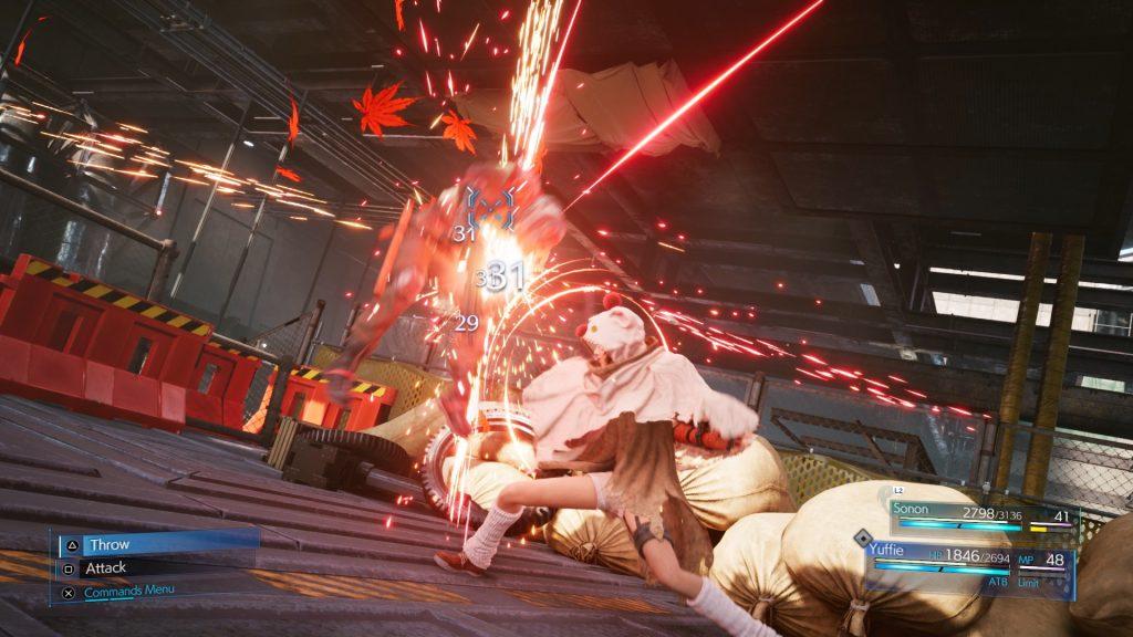 Final Fantasy 7 Remake Intergrade Yuffie Battle