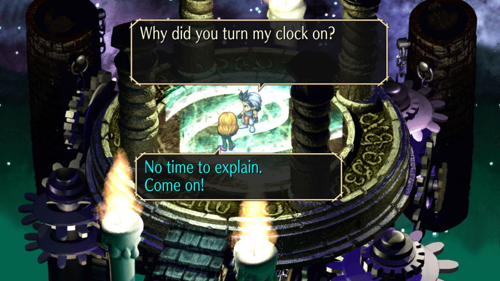 Saga Frontier Remastered Screen 8 Time Lord Conversation