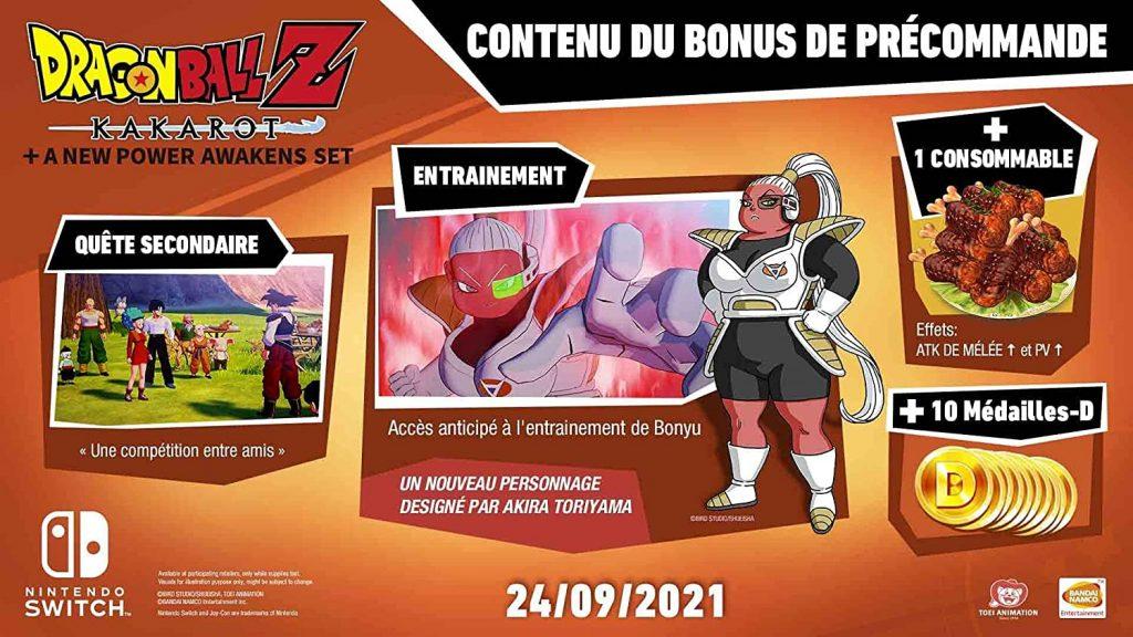 Dragon Ball Z Kakarot Switch Bonus Precommande