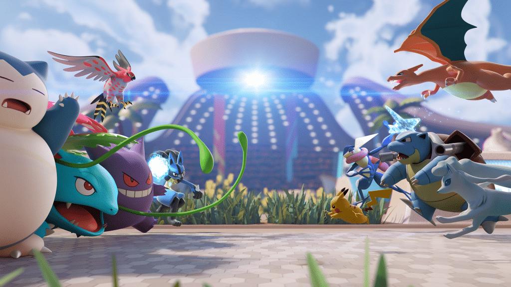 Pokemon Unite Team Up. Take Down Hero Image 1080p