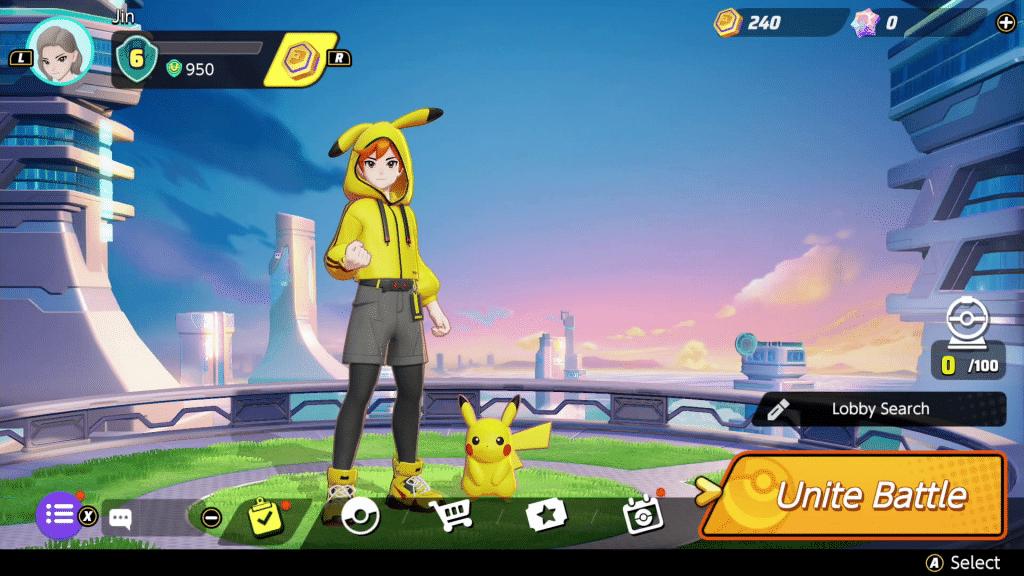 Pokemon Unite Trainer Fashion Pikachu