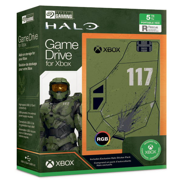 Disque Dur Game Drive Xbox Halo