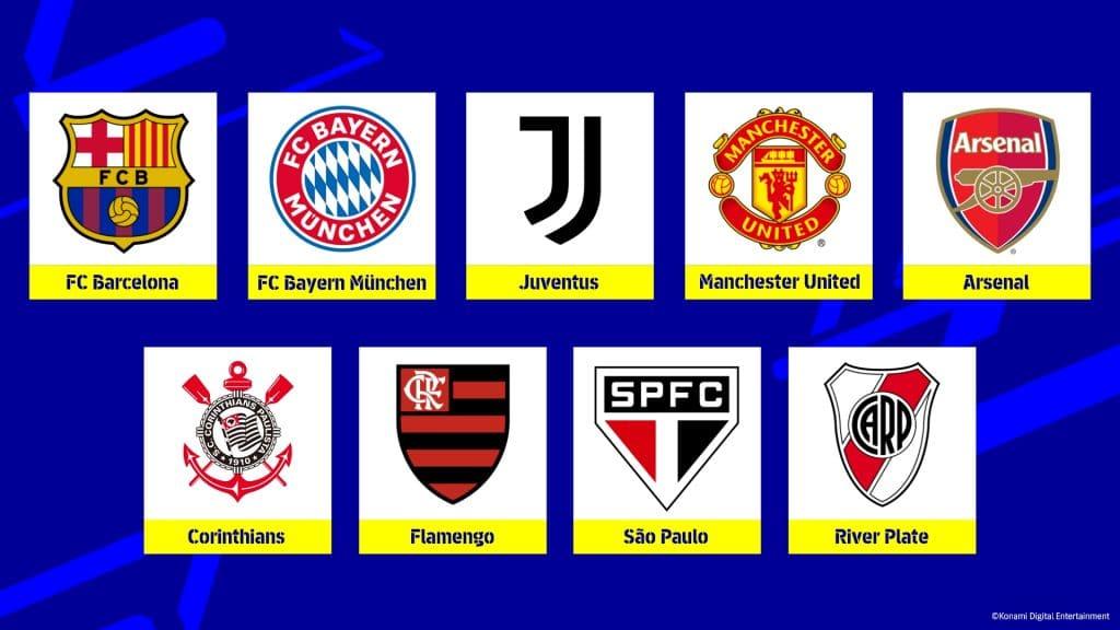 Efootball 2022 Teams